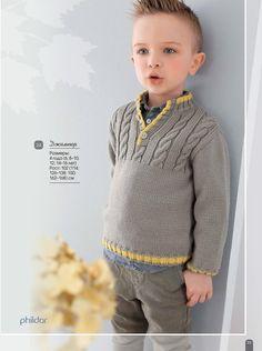 View album on Yandex. Baby Boy Knitting Patterns, Knitting For Kids, Crochet For Kids, Baby Knitting, Knit Crochet, Baby Boy Sweater, Men Sweater, Woolen Sweater Design, Boys Sweaters