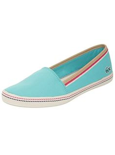 Lacoste Womens Orane 3 Light Blue Flat 7 M * You can find out more details at the link of the image. Note:It is Affiliate Link to Amazon.
