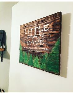 Lumberjack Nursery door sign