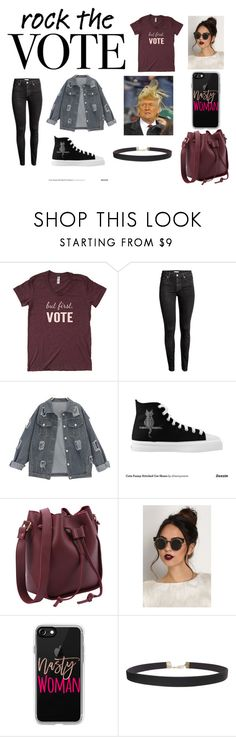 """""""Ready.. Set... VOTE!"""" by haleycat33 ❤ liked on Polyvore featuring H&M, Trump Home, Casetify and Humble Chic"""