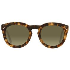 Céline Thin Preppy Sunglasses ($370) ❤ liked on Polyvore featuring accessories, eyewear, sunglasses, round lens sunglasses, tortoise shell glasses, yellow lens sunglasses, rounded sunglasses and yellow glasses