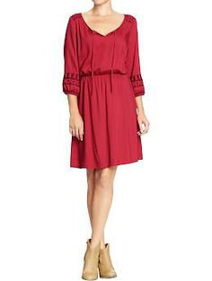 good for a warmer day  Women's 3/4-Sleeve Boho Dresses | Old Navy
