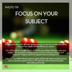 #Photo #Tip Focus on your subject... @Candidman