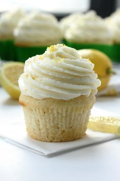 Light and Lovely Lemon Cupcakes - Baker by Nature @bakerbynature