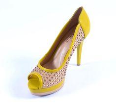 Pep Toe de Salto Amarelo #verão2013