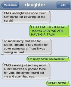 Funny text - Blonde daughter - http://www.jokideo.com/  HAHA BUSTED!!!!!!