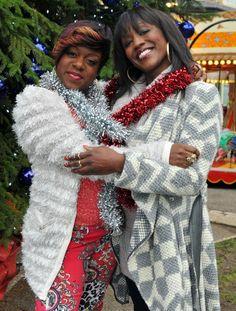 EastEnders // EastEnders Christmas 2012: Tameka Empson as Kim Fox and Diane Parish as Denise Fox .