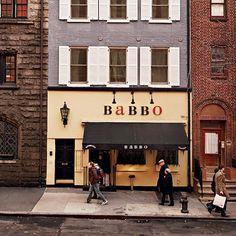 Babbo - New York Mario Batalin ravintola - vaikea saada pöytävarausta, mutta pastaa baarissa?