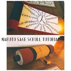 I remembered to take photos while working on Naruto's sage scroll and I've had some extra time since I'm still on winter break so I put together a tutorial :D I haven't seen too many tutorials online on how to make a roll out sage scroll for Naruto so I hope this helps people looking to put one together. It should be the first thing that comes up on my blog (link can be found on my bio) yeeeee...making props is seriously the most satisfying thing ever. They're usually a one-size-fits all so…
