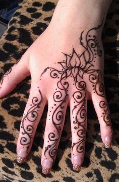 Henna Lotus Hand