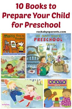 These books about going to preschool are a great tool for you to use to help prepare your little one for the new school experience ahead of them.