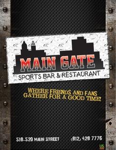 Restaurant Menus – Main Gate Sport Bar & Grill   Studio 78 Media Design