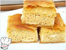ΜΑΚΑΡΟΝΟΠΙΤΑ ΑΦΡΑΤΗ ΜΕ ΧΕΙΡΟΠΟΙΗΤΟ ΦΥΛΛΟ ΚΑΙ ΤΡΙΑ ΤΥΡΙΑ!!! - Νόστιμες συνταγές της Γωγώς! Cornbread, Food And Drink, Pasta, Cooking, Ethnic Recipes, Board, Millet Bread, Kitchen, Corn Bread