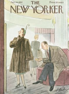 Perry Barlow : Cover art for The New Yorker 1406 - 26 January 1952