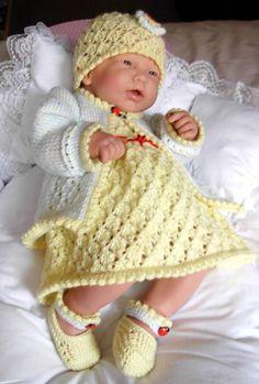 pdf Knitting Pattern 5 Piece Outfit in 3 sizes by BlueButterflyUK, £3.00