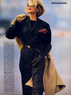 Vogue US September 1984 A New Approach. to the Season's Standout Tailoring Photographer: Hans Feurer Models: Ashley Richardson, Ariane Ko. News Fashion, 80s And 90s Fashion, Fashion History, Look Fashion, Fashion Outfits, Fashion Design, Chic Womens Fashion, 1980s Fashion Trends, City Fashion