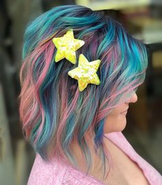 Star Light Star Bright Unique Hair Color Ideas 2019 Bright Hair Colors, Hair Colours, Colorful Hair, Latest Hair Color, Cool Hair Color, Unique Hairstyles, Messy Hairstyles, Awesome Hair, Trendy Hair