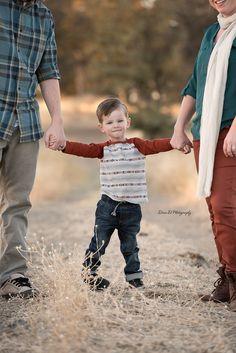 Little boy holding mom and dad's hands - Redding CA Newborn Photographer - Dani D Photography