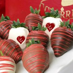 I Love You Valentines Chocolate Strawberries from CCBerries.com you even get to select the chocolate type