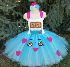 Customizable Cheeky Chocolate Shopkins Inspired Tutu Dress
