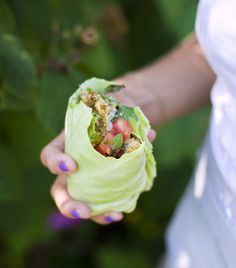 healthytodayskinnytomorrow:    hellthy:    healthierways:    Instead of using tortilla bread - use a big lettuce leaf :)  (via Green Kitchen Stories» Herb & Pistachio Falafel on we heart it / visual bookmark #12103091)    Damn that looks delicious!    OMG yummy and such a good idea!