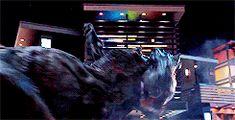 Blue riding Rexy Jurassic World