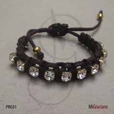 R$15 Pulseira Shambala MiGraciano Diy Bracelet, Bracelets, Hipster, Simple, My Style, Accessories, Jewelry, Rhinestones, Bangle Bracelets