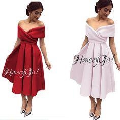 Evening Dress,Tea-Length Evening Dress,Off-the-Shoulder Evening Dresses,Elegant Party Dress for Women HG1185
