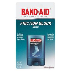 'Band-Aid friction block stick. This stuff really works! Sick of blisters or red sores from tight but oh so fashionable shoes...this is my go-to product that saves my feet daily! It's the best invention and is always in my purse.'
