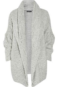 Oversized cashmere cardigan. WANT..