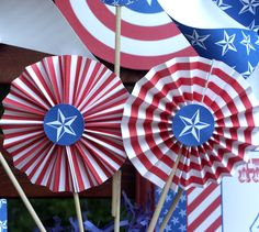 Fourth Of July Party Decorations | ... would make great decorations as centerpieces, on banners, or anywhere