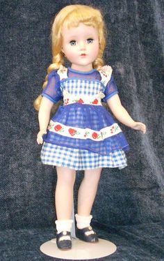 BLUE CHECK DRESS with BLUE ORGANDY APRON