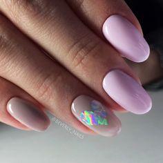 Ногти голограмма сердце nails heart love holographic нюдовый цвет