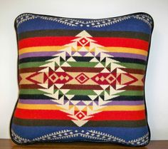 fantastic bright colors and design... this is one of my fav pendleton pillows from etsy