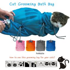 2016 new arrival Multifunctional cat Grooming bag cat bags bath bags fitted mesh bag cat clean  S L 2 sizes -in Cat Grooming from Home & Garden on Aliexpress.com | Alibaba Group
