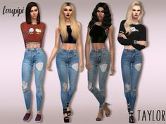 Taylor high waisted jeans at Laupipi • Sims 4 Updates