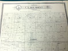 A personal favorite from my Etsy shop https://www.etsy.com/listing/236178244/claremont-township-illinois-antique-map
