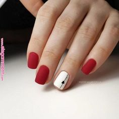 Red and white nails Nails of the heart Valentine's nails. Red and white nails Nails of the heart Valentine's nails. Cute Nails, Pretty Nails, Red Matte Nails, Red And White Nails, Green Nails, Elegant Nail Art, Valentine's Day, Heart Nails, Nagel Gel
