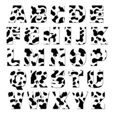 Graphics and More Alphabet Letters Lowercase Novelty Gift Locker Refrigerator Vinyl Magnet Set, Cow Print Animals Carta Collage, Cow Birthday Parties, Cow Pattern, Good Notes, Aesthetic Stickers, Indie Kids, Cow Print, Novelty Gifts, Letters And Numbers