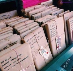 A book store where books are wrapped in paper with short descriptions so no one will 'judge a book by it's cover'
