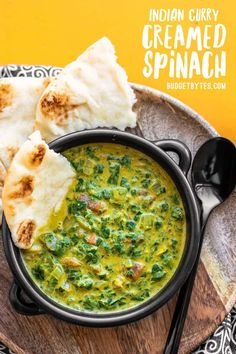 Rich and fragrant this Indian Creamed Spinach makes a delicious side dish or with a few additions a simple vegetarian meal. Vegetarian Recipes Easy, Indian Food Recipes, Beef Recipes, Cooking Recipes, Healthy Recipes, Vegetarian Appetizers, Indian Snacks, Fruit Recipes, Family Recipes