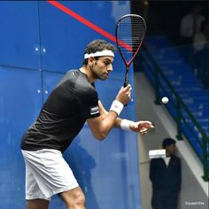 Work on your backhand serve. It allows you step straight on to the T, watch your opponent and keep the ball closer to the side wall for longer due to the shallower angle. For more information check out the video at. Squash Tips, Side Wall, Best Player, Tennis Racket, Closer, Coaching, Watch, Check, Hs Sports
