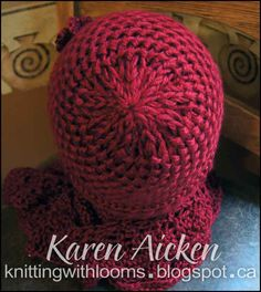 I finished the red hat I made to go with my 'Sweet On Ruffles Shawlette' (see THIS  post). I made it with the sumptious Caron Simply Soft y...