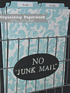 """Clean & Scentsible: Organizing Paperwork {The Household Organization Diet} An awesome """"reminder"""" checklist for me!"""