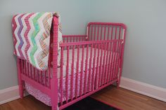 How to safely paint a baby crib PINK