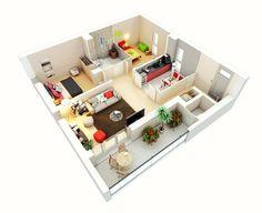 แบบบ้านสวยๆ สำหรับคนที่กำลังมองหาแบบบ้านขนาดเล็กหรือแบบคอนโด อพาร์ทเมนท์ ขนาด 2 ห้องนอน