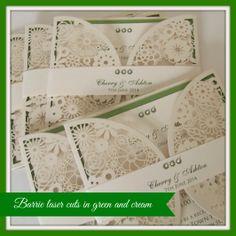 Elegant Vintage Lace Wedding Invitation Ivory Pearl Customize