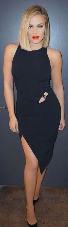 Khloe Kardashian: Dress – Mugler  Shoes – Christian Louboutin
