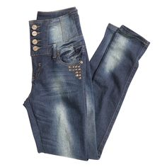 High waisted denim is a coveted denim style this season. Distressed detail keeps the look fresh and young. #iRockLEGiT