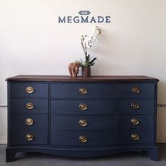 Absolutely love this Dresser! Absolutely love this Dresser! Navy Furniture, Furniture Update, Refurbished Furniture, Paint Furniture, Repurposed Furniture, Furniture Projects, Furniture Makeover, Vintage Furniture, Basement Furniture